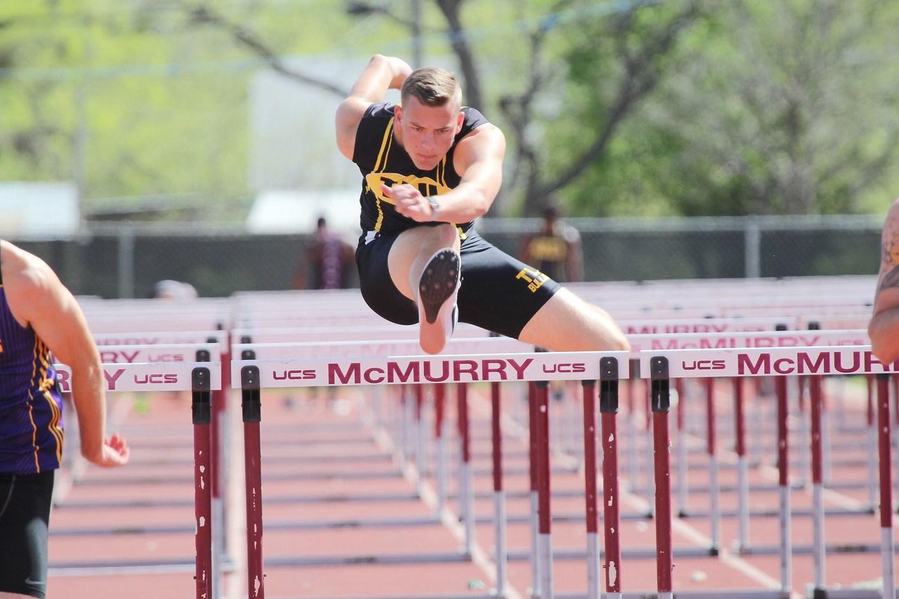 Spencer Bierschwale TLU hurdle picture