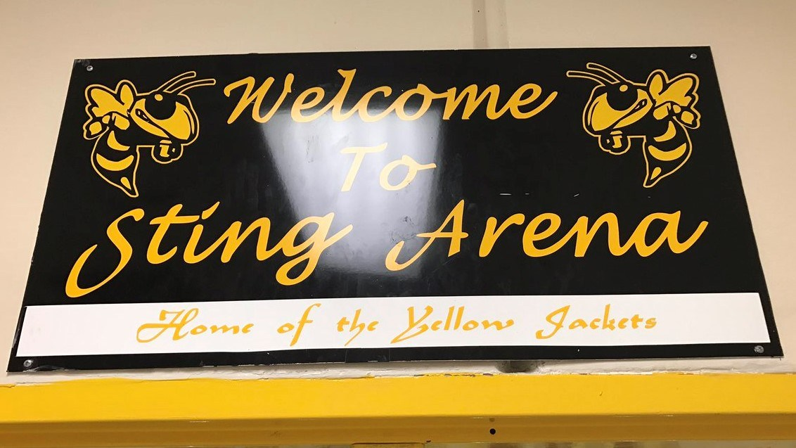 STING arena sign