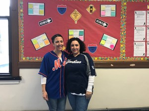 teachers in the jersey spirit wearing their favorite teams