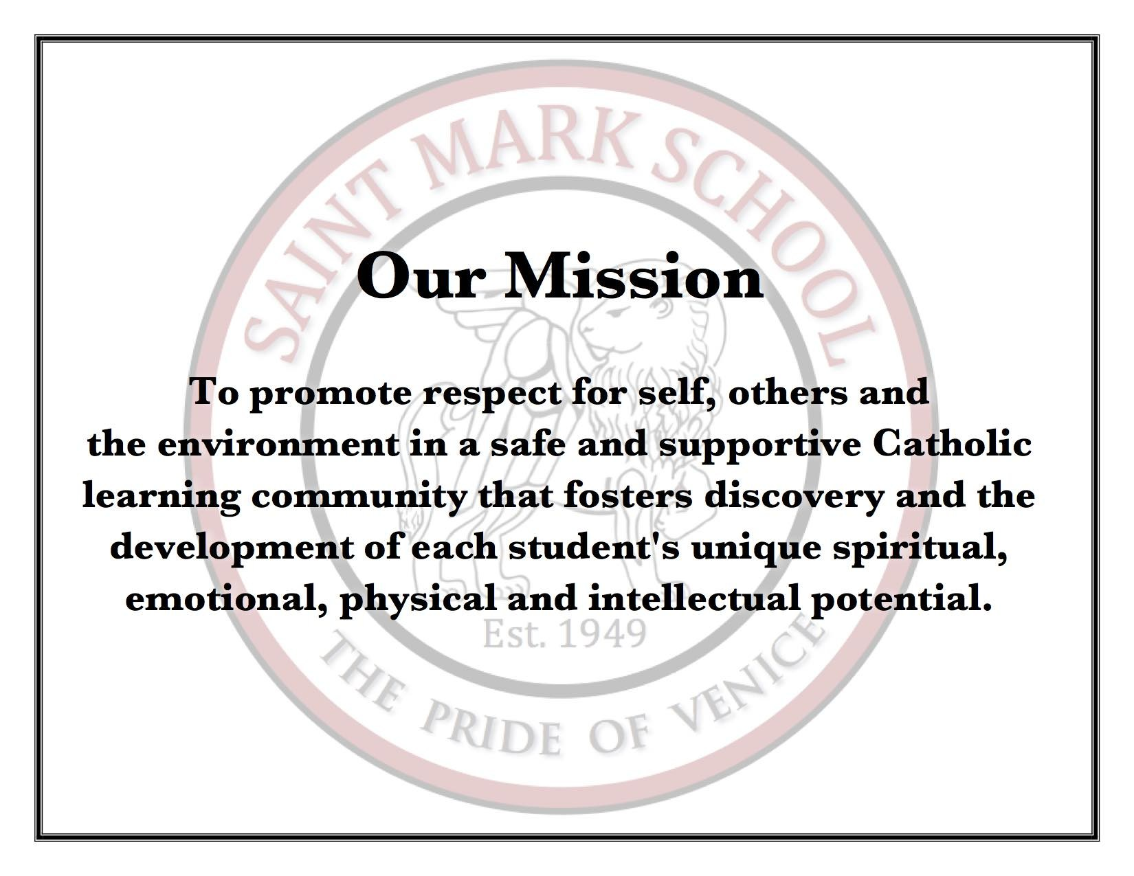 mission vision about us saint mark school