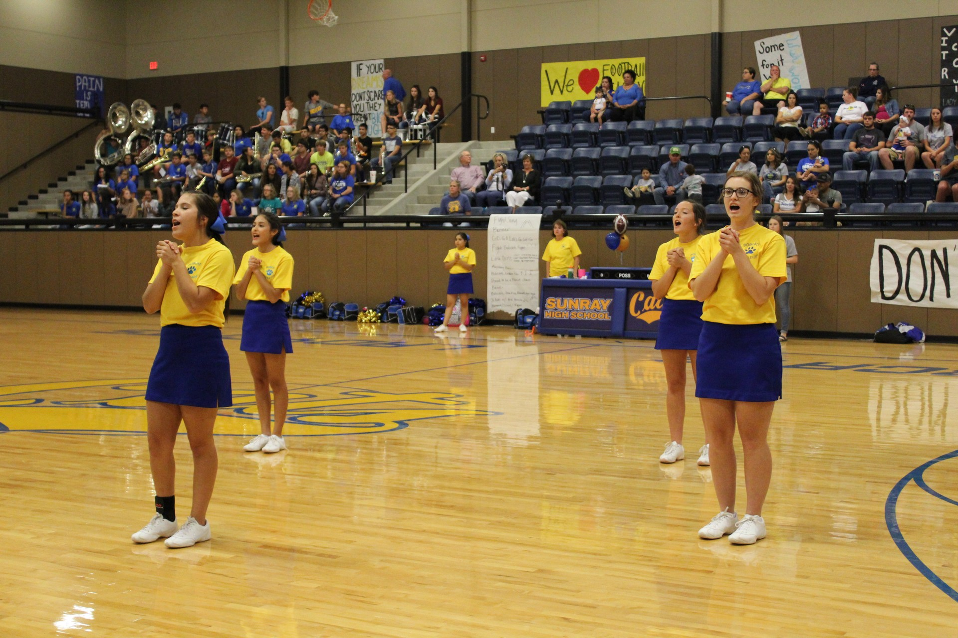 Varsity Cheerleaders at the Pep Rally