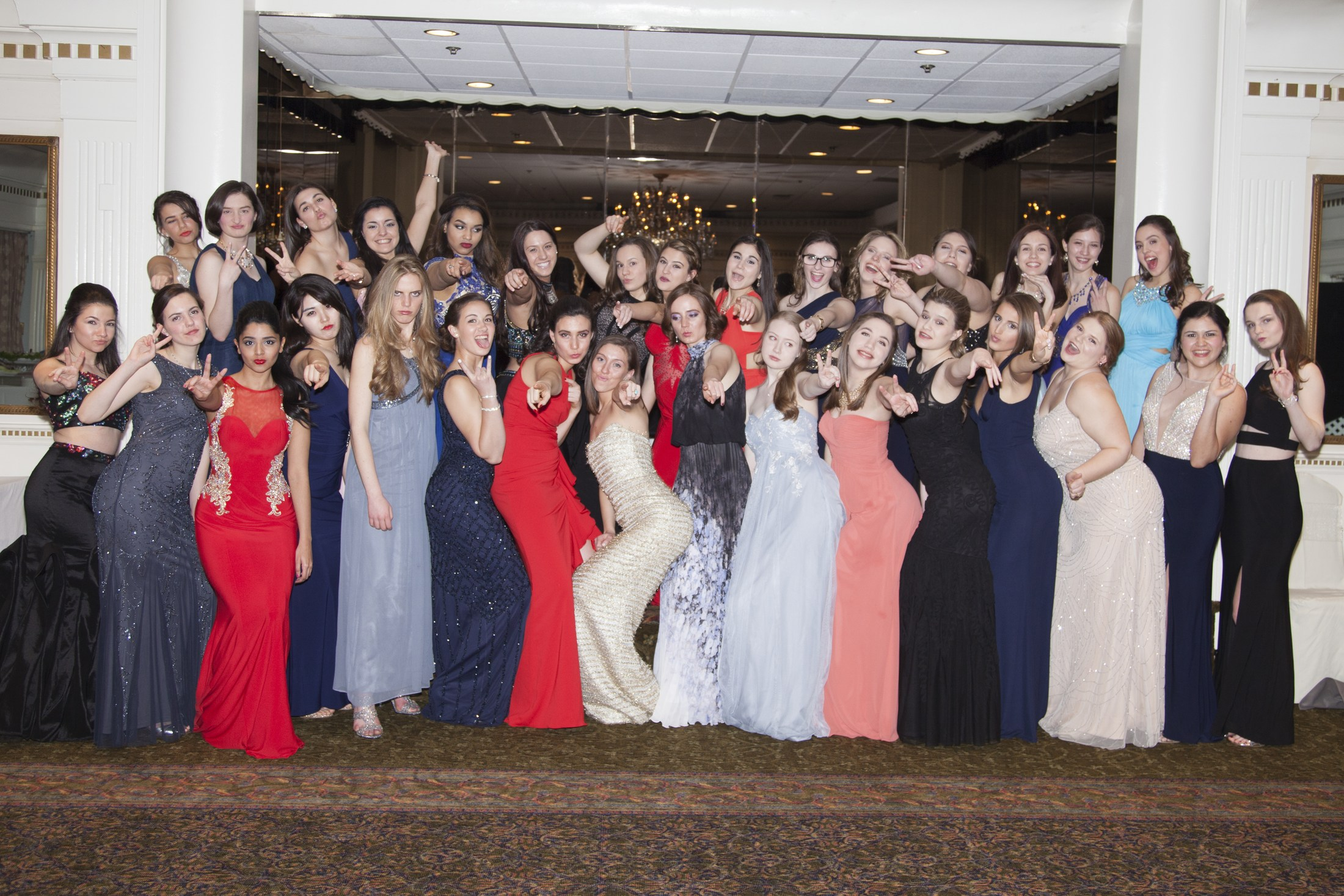 Image Of Students From Catholic High School Ready For Prom In Morristown, NJ - Academy of St. Elizabeth