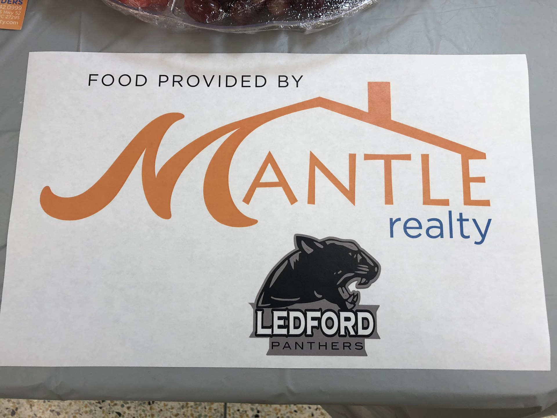 Refreshments provided by Mantle Realty