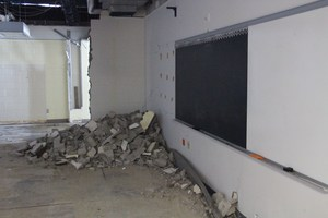 Old walls have begun to come down in the 5th grade wing as part of Phase 1 of The Road to 2020.