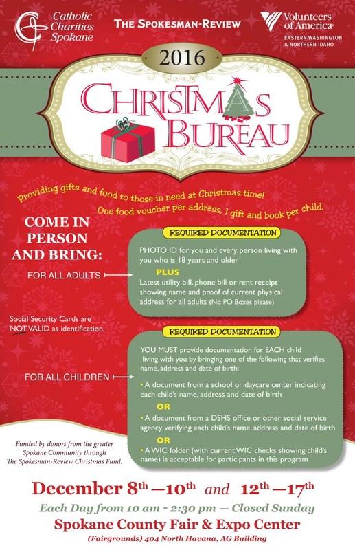 Spokane Christmas Bureau Tree and packages