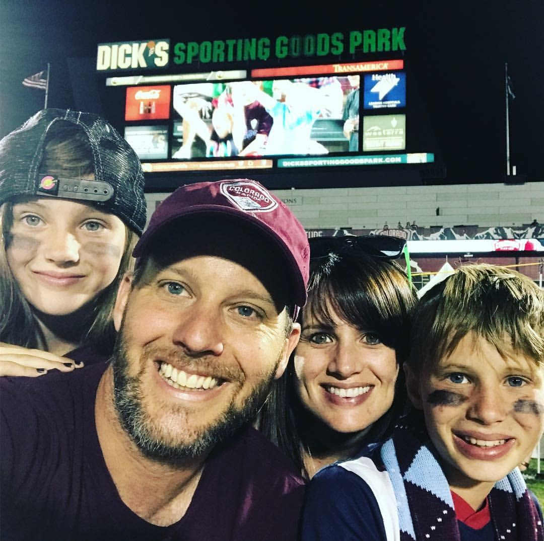 Mr. Wolf's family at a Colorado Rapids game.
