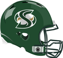 Sacramento State University Hornets football logo on helmet.