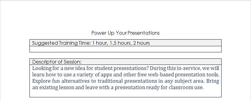 Power up your Presentation