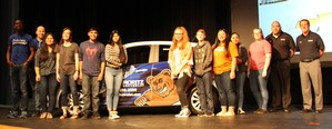 Ten students' names were drawn to qualify for the car giveaway.