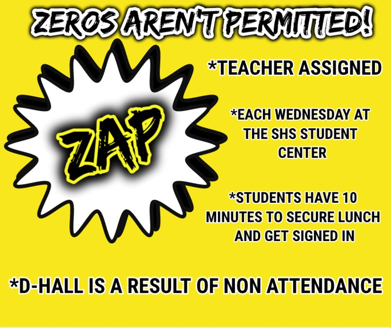 Don't Get ZAPPED At SHS! Featured Photo