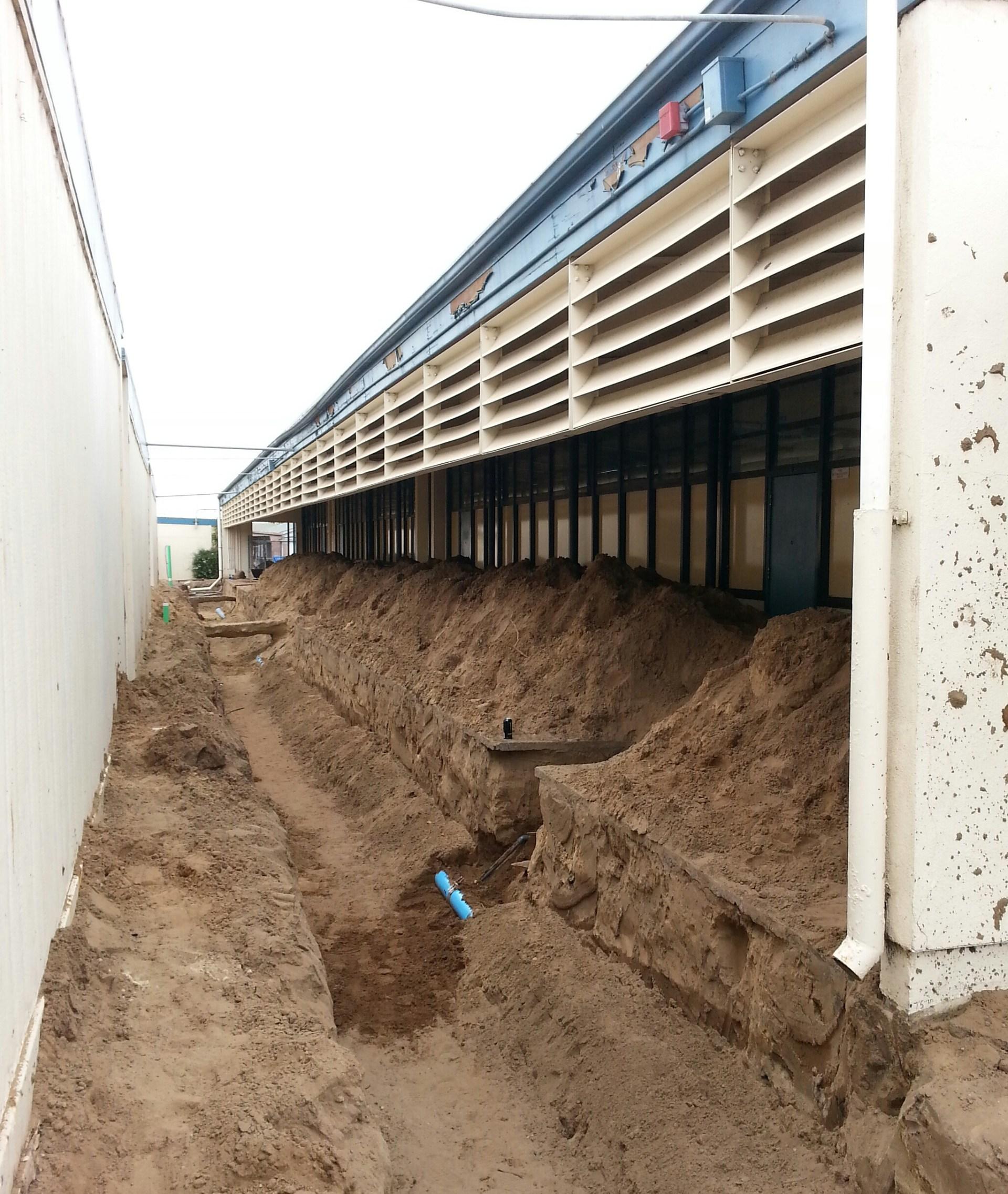 utility construction at Oceano