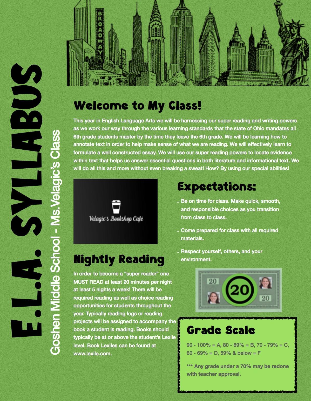 Syllabus Page 1