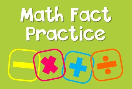 Practice math facts daily