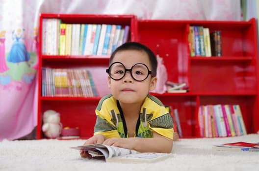 Student reading.