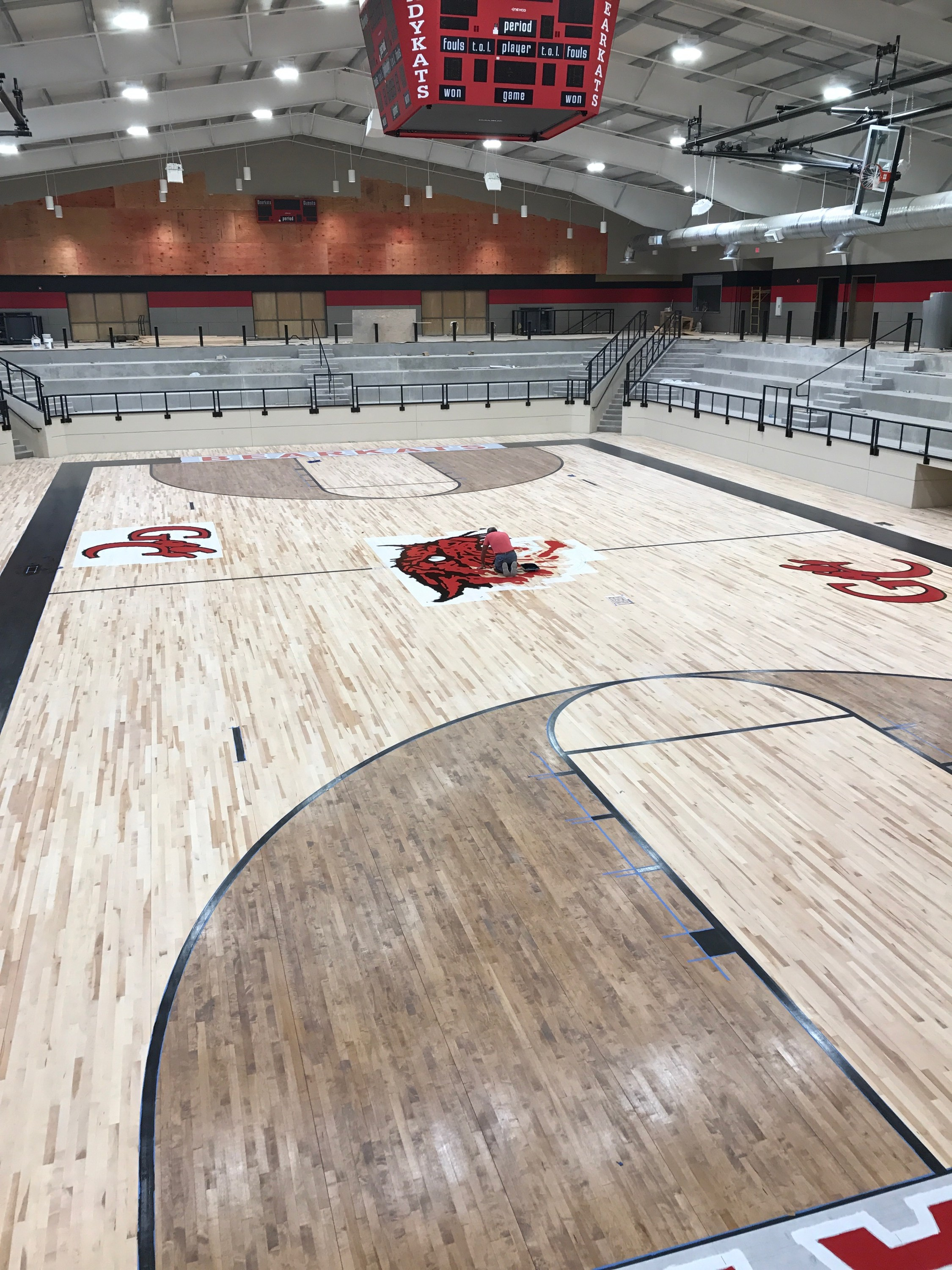 pad ram moody and with ssf a gym vinyl combines blog rolled seamless floor pour