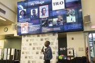 Student Jordan Ogbu-Feliz presents at the Upward Bound Symposium.