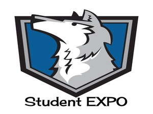 Wolf logo with Student EXPO printed on the bottom.