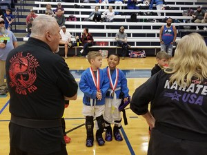 Martial Arts Students at tournament