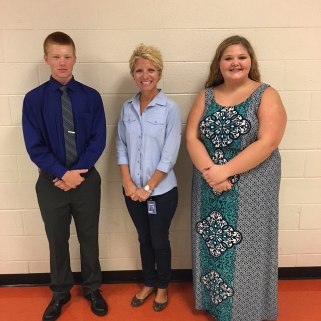 Grayson & Amber with Mrs. Mayberry (Lowes Companies)