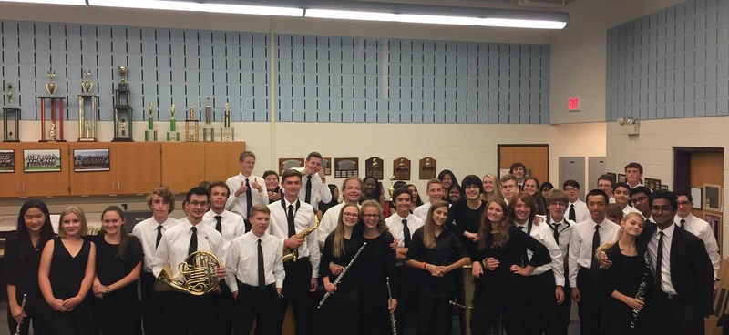 The Symphonic Band at their fall concert