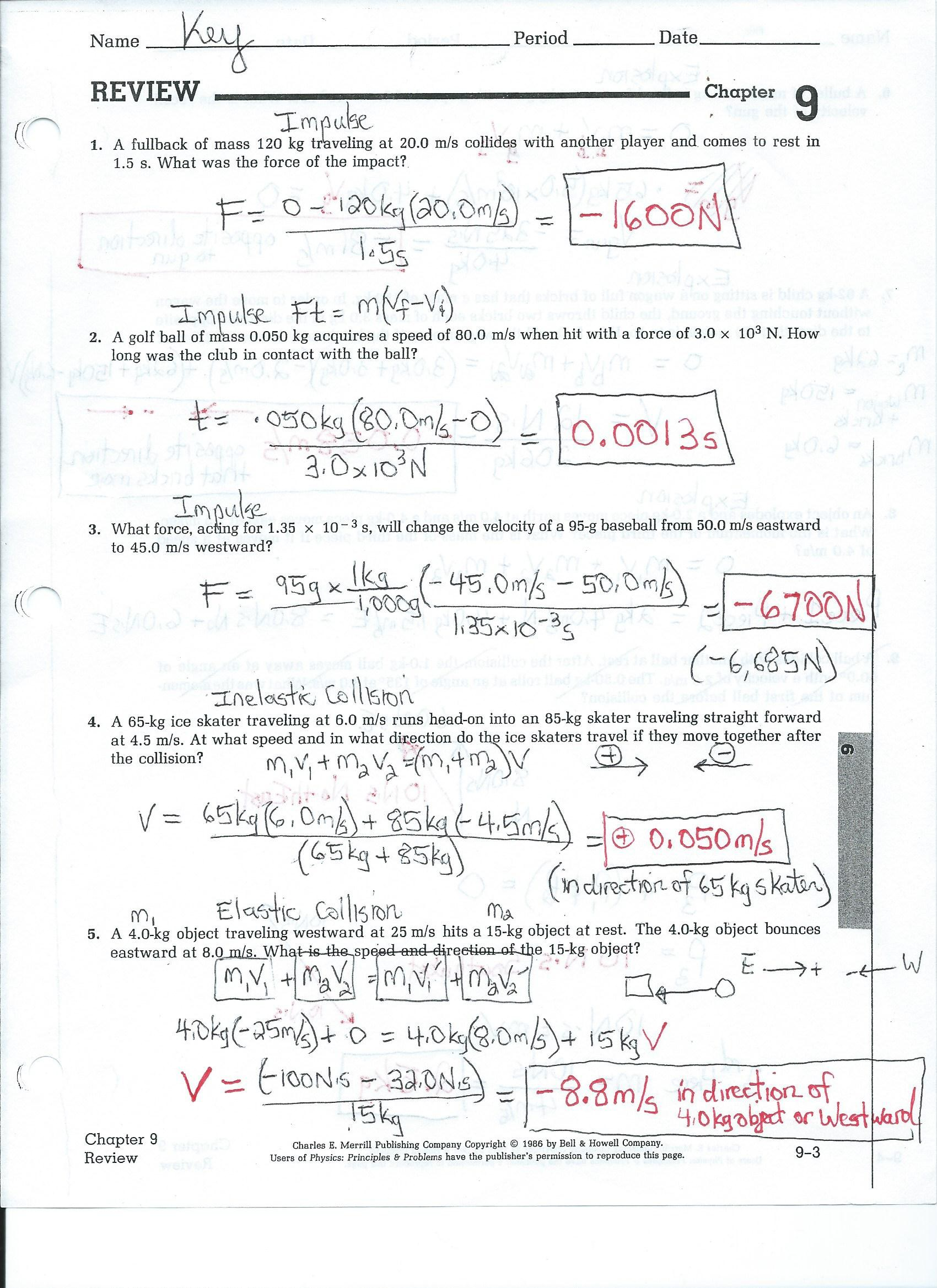 South Pasadena High School – Mechanical Universe Worksheets
