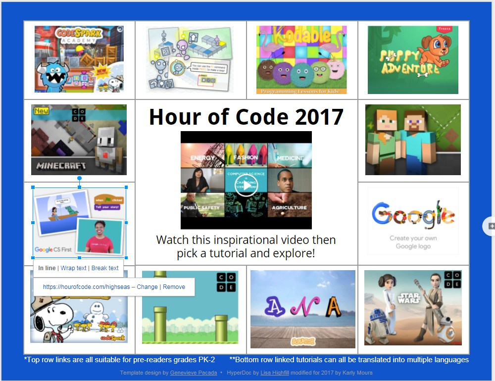 hour of code games 2017