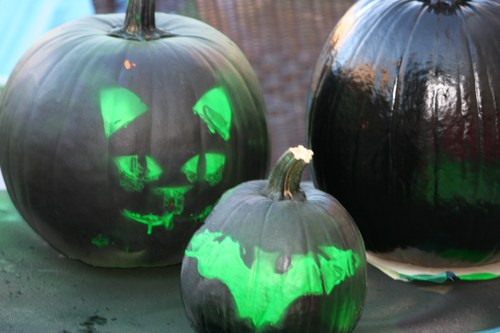 Pictures of Halloween Pumpkins that were painted