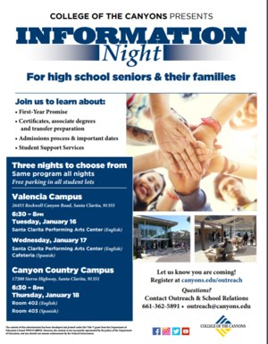 Information Night Flyer image