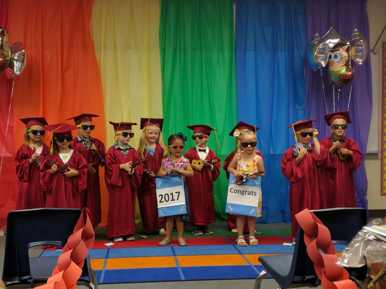 Preschool kids graduating, 2017.