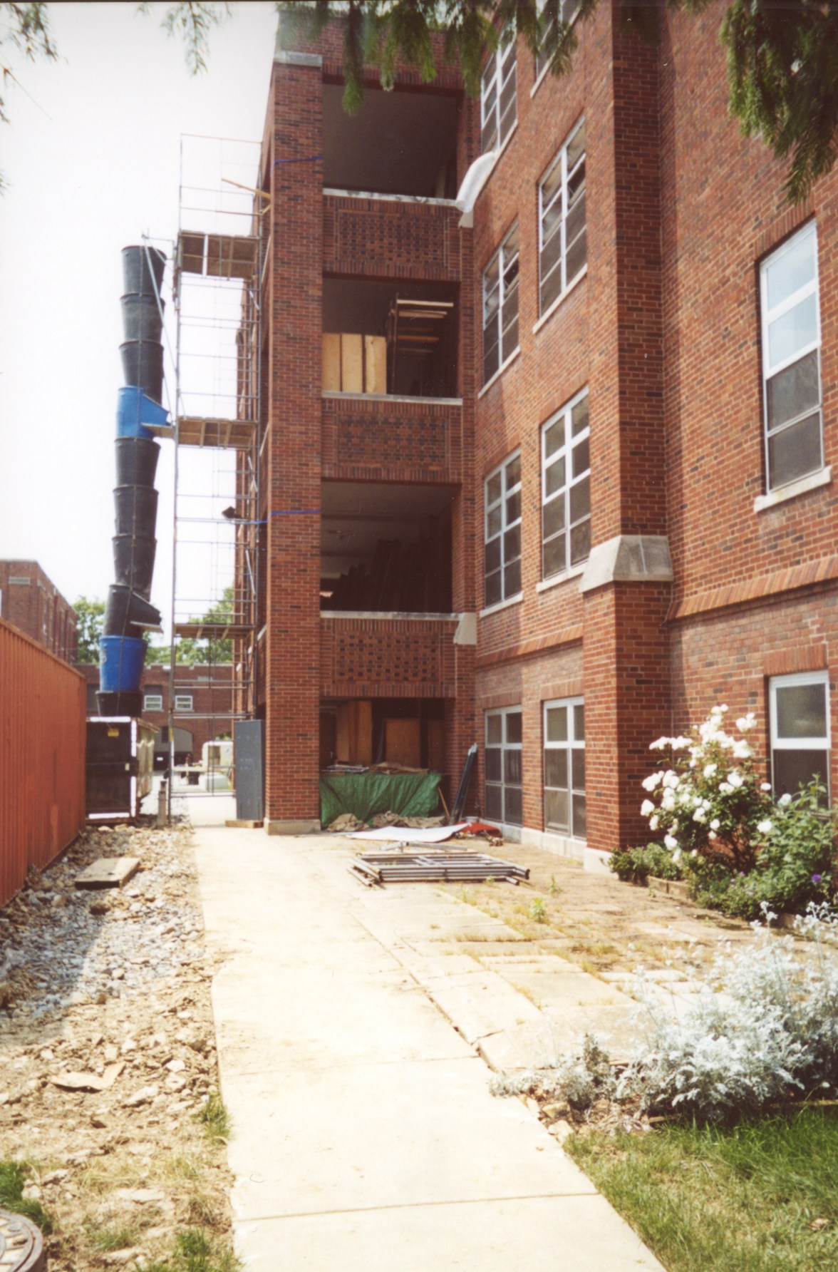 Construction on the OLSH school building in 2003