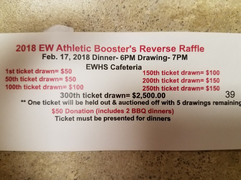 East Wilkes Reverse Raffle, March 24th Thumbnail Image
