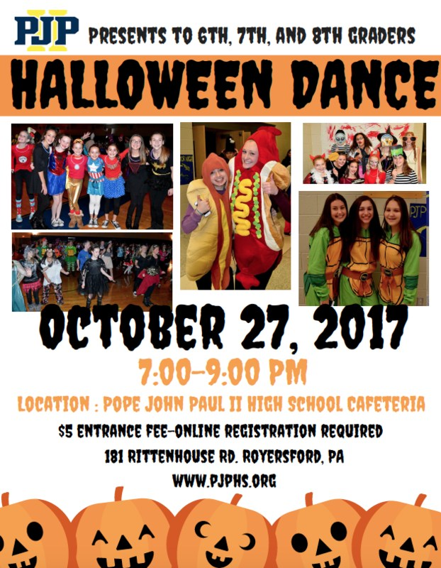 6th, 7th and 8th Grade Halloween Dance - October 27 - Sign Up Here! Thumbnail Image