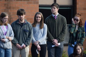 students standing in line