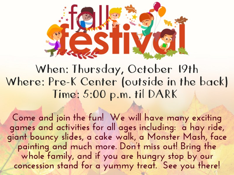 SAVE THE DATE - Fall Festival Featured Photo