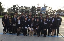 Mark Keppel High School's FBLA contingent poses for a picture before the awards ceremony at the Mission Valley Section Conference.