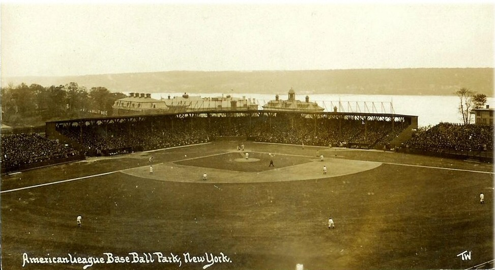 Postcard image of the Hilltop Park ball park