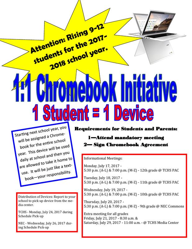 1 to 1 Chromebook Initiative Featured Photo