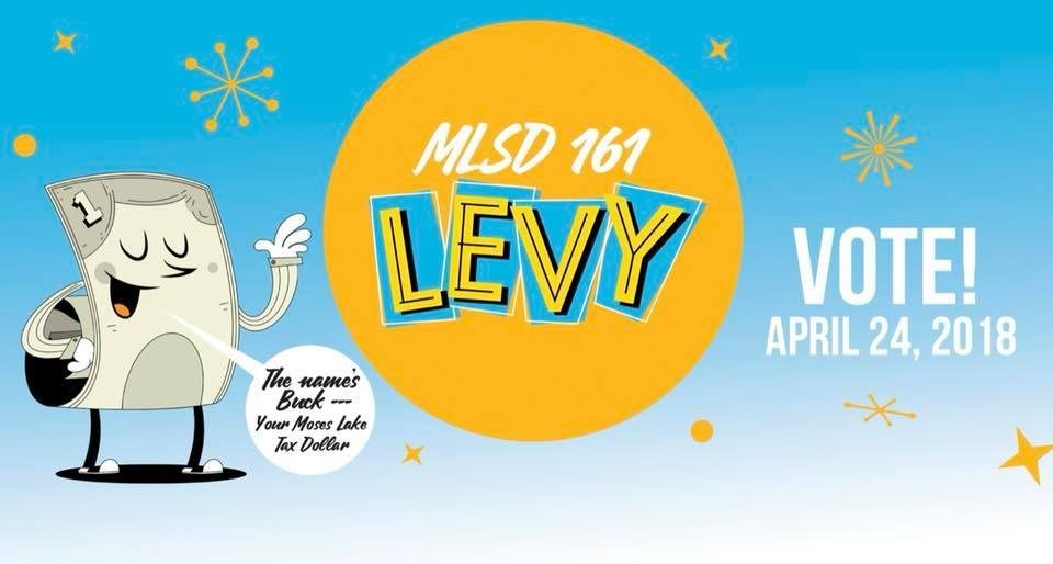 2018 Levy Handout flyer front with reminder to vote April 24th