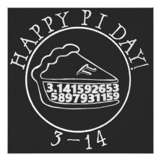 Happy Pi day Chalkboard pie square card