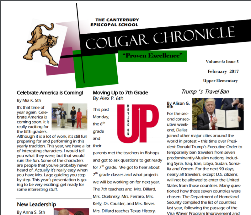 The Latest Cougar Chronicle is Out! Thumbnail Image