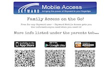 Portrait of IOS and Android QR Codes for the Skyward App