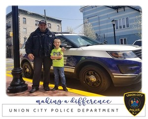 Officer Estrella with Matthew