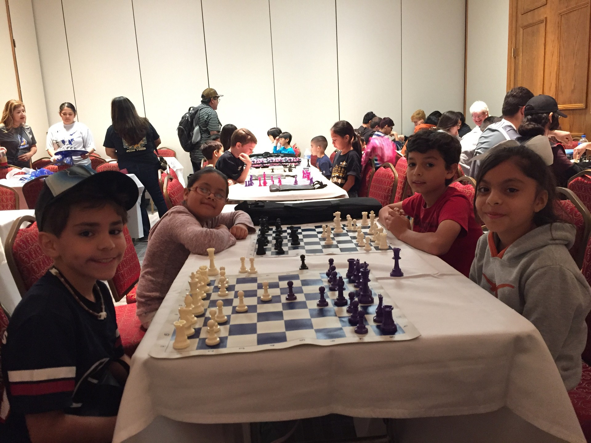 Students practicing Chess before competition.