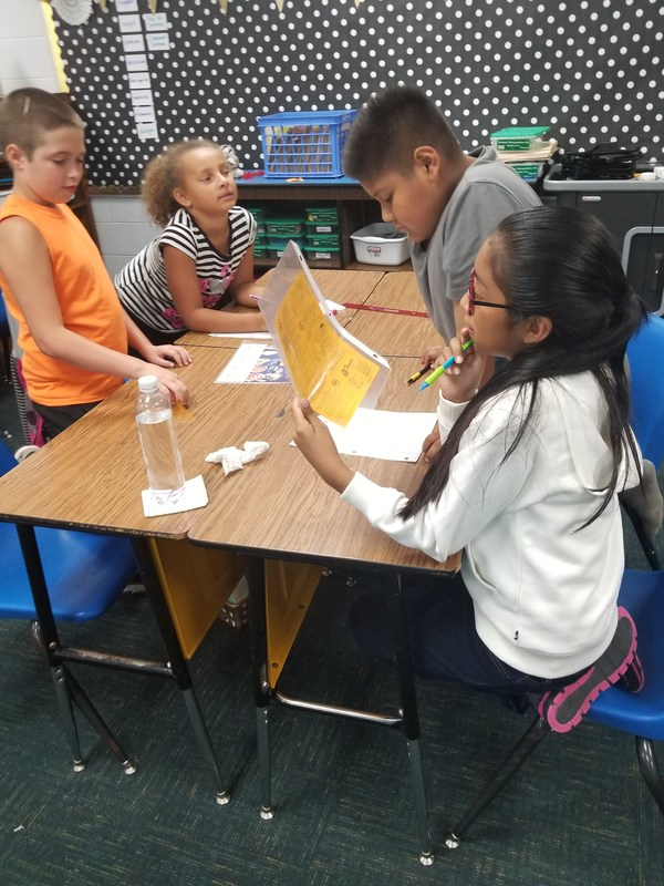 Group of students working on Math