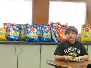Lee students learn about foods made right here in Michigan including potato chips.