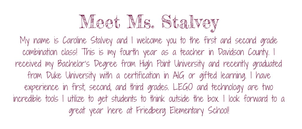Meet Ms. Stalvey