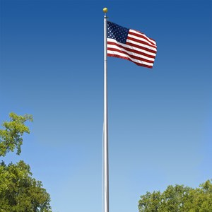 U.S. flag on flagpole