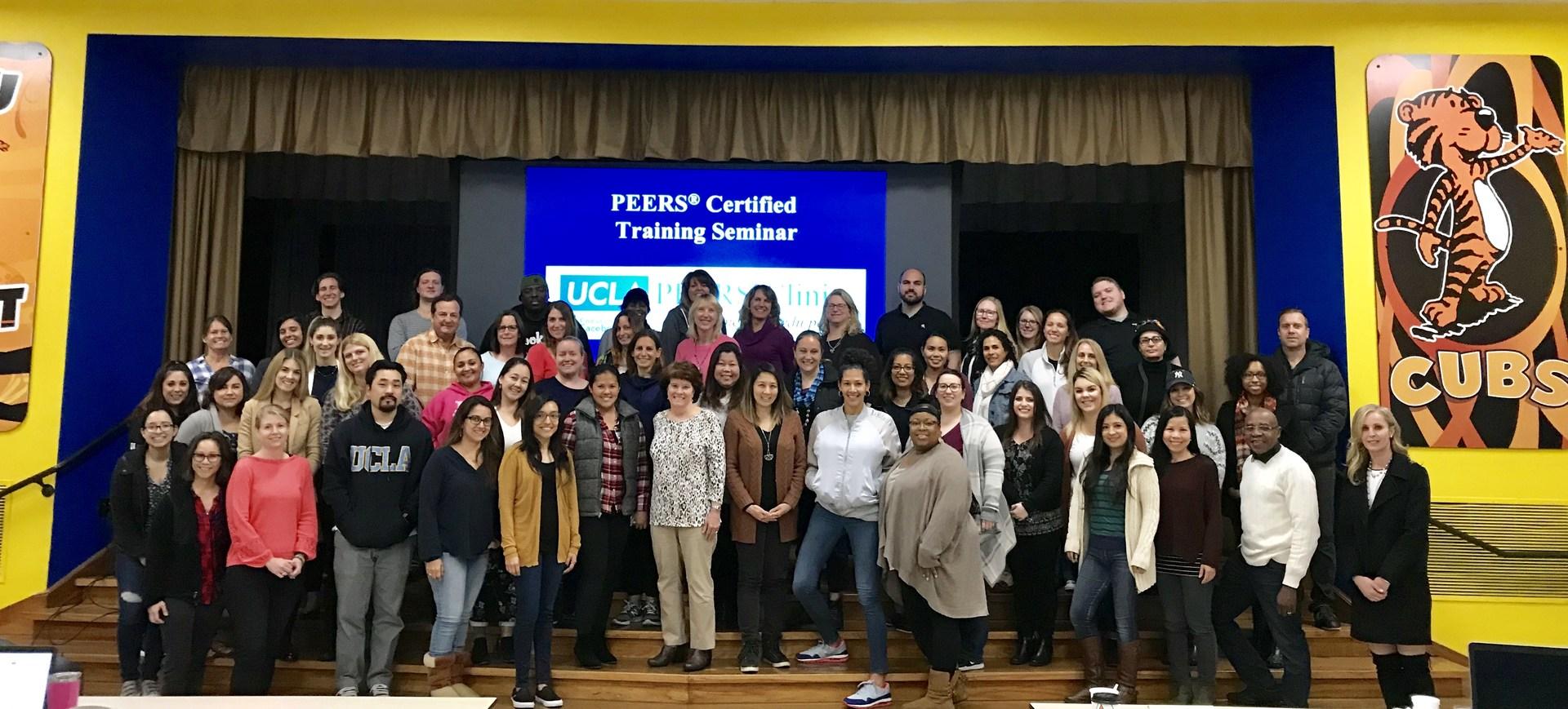 Southwest SELPA staff participate in UCLA Peers training program.