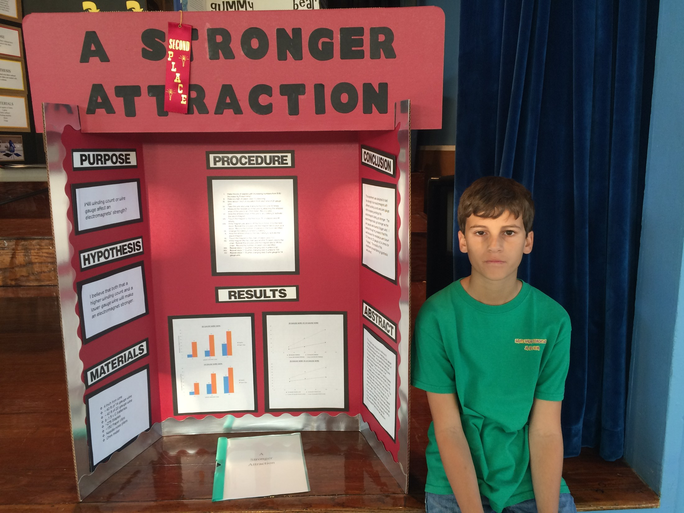 7th grade 2nd Place in Science Fair