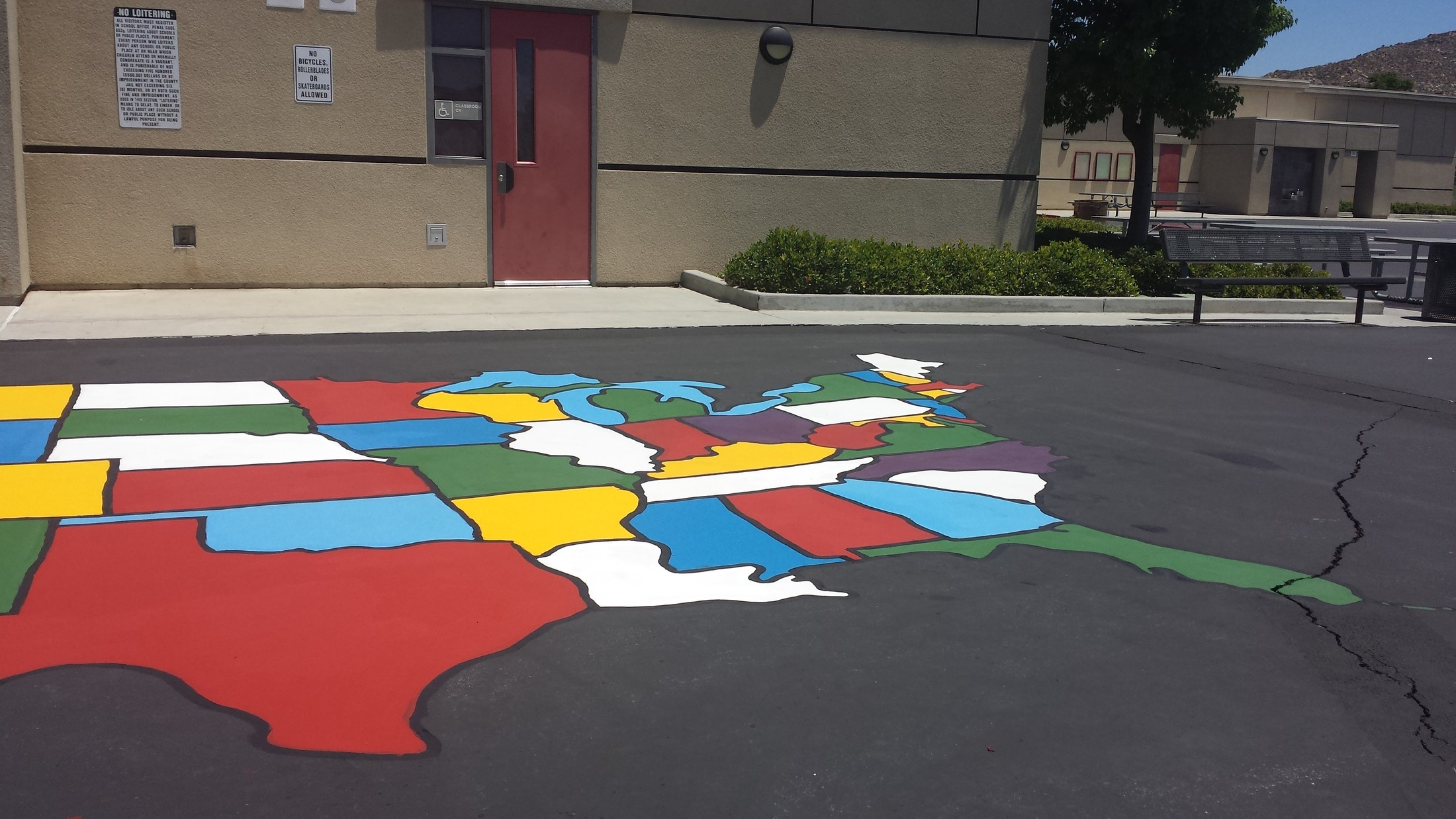 Repainted instructional map for students
